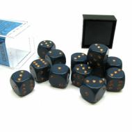 Kockice za društvene igre Chessex Opaque Dusty Blue with Copper 16mm D6 Dice Block (12 Dice)