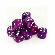 Chessex Festive Violet with White 16mm D6 Dice Block (12 Dice) kockice za društvene igre