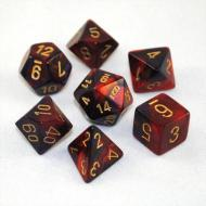 Chessex Gemini Purple Red with Gold 7-Dice Set
