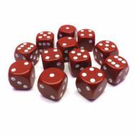 Kockice za društvene igre Chessex Opaque Red with White 16mm D6 Dice Block (12 Dice)
