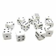 Kockice za društvene igre Chessex Opaque White with Black 16mm D6 Dice Block (12 Dice)