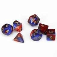 Chessex Gemini Blue Red with Gold