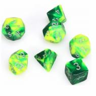 Chessex Gemini Green Yellow with Silver