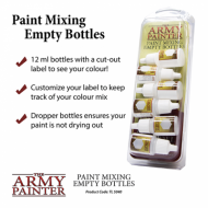 Paint Mixing Empty Bottles, army painter, setovi, četkice, d&D, frp, bojenje figura, war games, ratne igre, warhammer, 40k, beograd, srbija, društvene igre, prodaja