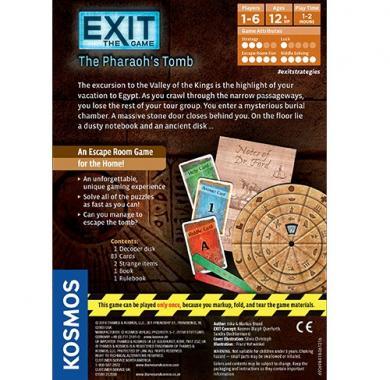 Exit:The Pharaoh's Tomb, escape room, party game, zabava, misterija, zagonetke